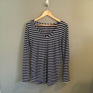 Ingrid & Isabel Maternity Striped Shirt Size M
